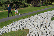Fernando Casasempere, Second Skin, 2016, Parafin<br /> gallery - The Frieze Sculpture Park 2016 comprises 19 large-scale works, set in the English Gardens between Frieze Masters and Frieze London. Selected by Clare Lilley (Yorkshire Sculpture Park), the Frieze Sculpture Park will feature 19 major artists including Conrad Shawcross, Claus Oldenburg, Nairy Baghramian,Ed Herring, Goshka Macuga and Lynn Chadwick. The installations will remain on view until 8 January 2017.