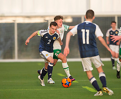 Scotland's Chris Hamilton (2). Scotland 0 v 3 Repulic of Ireland, Under 16 Victory Shield played at Oriam, Edinburgh.