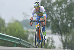 September 15, 2017 - Chenghu City, United States - Caio Godoy Ormenese from Soul Brasil Pro Cycling team during the fourth stage of the 2017 Tour of China 1, the 3.3 km Chenghu Jintang individual time trial. .On Friday, 15 September 2017, in Jintang County, Chenghu City,  Sichuan Province, China. (Credit Image: © Artur Widak/NurPhoto via ZUMA Press)