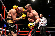 Boxen: Boxen im Norden, Hamburg, 06.20.2019<br /> Deutsche Meisterschaft, Schwergewicht: Boris Estenfelder - Roman Gorst<br /> © Torsten Helmke