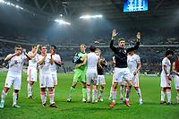 FOOTBALL - UEFA CHAMPIONS LEAGUE 2012/2013 - GROUP F - LILLE OSC v FC BAYERN MUNCHEN - 23/10/2012 - PHOTO JEAN MARIE HERVIO / REGAMEDIA / DPPI - JOY BAYERN AT THE END OF THE MATCH