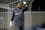 Jordan Archer, the goalkeeper of Millwall in action. EFL Skybet championship match, Millwall v Sheffield Utd at The Den in London on Saturday 2nd December 2017.<br /> pic by Steffan Bowen, Andrew Orchard sports photography.
