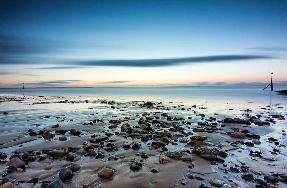Long exposure of Hornsea Beach, East Yorkshire.