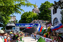 Matej MOHORIC of BAHRAIN VICTORIOUS in the finish during the 4th Stage of 27th Tour of Slovenia 2021 cycling race between Ajdovscina and Nova Gorica (164,1 km), on June 12, 2021 in Slovenia. Photo by Matic Klansek Velej / Sportida