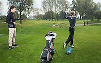 NOORDWIJK - Golfpro's Jurrian van der Vaart , Floris Vos. Golfcentrum Noordwijk. COPYRIGHT KOEN SUYK