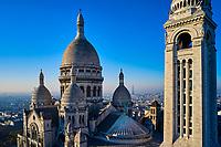 France, Paris (75), la basilique du Sacré Coeur sur la colline de Montmartre // France, Paris (75), the basilica of the Sacre Coeur on the hill of Montmartre
