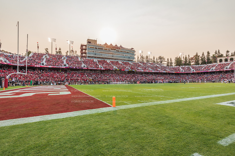 PALO ALTO, CA - SEPTEMBER 26:  A general view of Stanford Stadium during an NCAA Pac-12 college football game between the Stanford Cardinal and the UCLA Bruins on September 26, 2021 at Stanford Stadium in Palo Alto, California.  (Photo by David Madison/Getty Images)