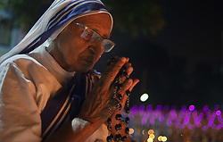 November 2, 2018 - Dhaka, Dhaka, Bangladesh - A sister seen praying during the all soul's day..Members of the Catholic Church remember their loved ones on the all soul's day. (Credit Image: © Ziaul Haque Oisharjh/SOPA Images via ZUMA Wire)