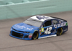 November 16, 2018 - Homestead, FL, U.S. - HOMESTEAD, FL - NOVEMBER 16: Kyle Larson runs through turn four during the first NASCAR Monster Energy Cup practice on November 16, 2018 at Homestead-Miami Speedway in Homestead, FL. (Photo by Michael Bush/Icon Sportswire) (Credit Image: © Michael Bush/Icon SMI via ZUMA Press)