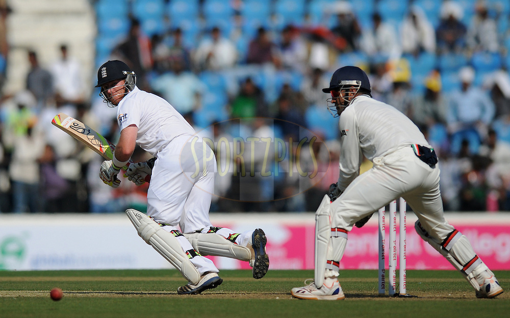 Ian Bell of England bats during day one of the 4th Airtel Test Match between India and England held at VCA ground in Nagpur on the 13th December 2012..Photo by  Pal Pillai/BCCI/SPORTZPICS .