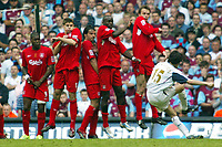 Photo: Chris Ratcliffe.<br />Liverpool v West Ham United. The FA Cup Final. 13/05/2006.<br />Yossi Benayoun of West Ham tries to curl one over the Liverpool wall.
