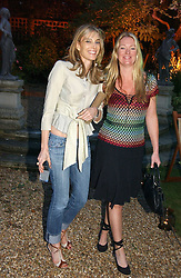 Left to right, KIM HERSOV and DARA FISCHER at the Quintessentially Summer Party held at Debenham House, 8 Addison Road, London W14 on 15th June 2006.<br /><br />NON EXCLUSIVE - WORLD RIGHTS