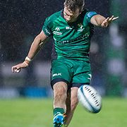 GALWAY, IRELAND:  October 01:   Jack Carty #10 of Connacht converts a try during the Connacht V Vodacom Bulls, United Rugby Championship match at The Sportsground on October 1st, 2021 in Galway, Ireland. (Photo by Tim Clayton/Corbis via Getty Images)