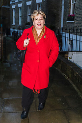 © Licensed to London News Pictures. 20/12/2019. London, UK. Shadow Foreign Secretary, Emily Thornberry leaves her London home this morning. Emily Thornberry has declared her intention to enter the Labour Party leadership race to succeed Jeremy Corbyn and become leader of the Labour Party. Photo credit: Vickie Flores/LNP
