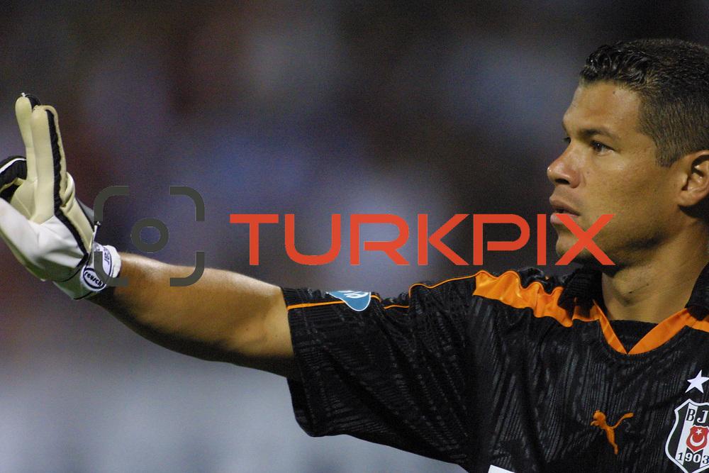 Turkish soccer...<br /> Turkish Soccer team Besiktas between Rapid Bukres. Besiktas goal keeper Oscar Cordoba during their Inonu Stadium Istanbul/Turkey<br /> Photo by Aykut AKICI/TurkSporFoto