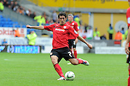 Cardiff city's Peter Whittingham ©  scores his sides 3rd goal (his 3rd).  NPower championship, Cardiff city v Wolverhampton Wanderers at the Cardiff city stadium in Cardiff, South Wales on Sunday 2nd Sept 2012. pic by Andrew Orchard, Andrew Orchard sports photography,