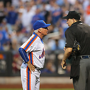 NEW YORK, NEW YORK - May 28:  Umpire Adam Hamari tosses Manager Terry Collins #10 of the New York Mets after tossing Noah Syndergaard #34 of the New York Mets for throwing at Chase Utley #26 of the Los Angeles Dodgers during the Los Angeles Dodgers Vs New York Mets regular season MLB game at Citi Field on May 28, 2016 in New York City. (Photo by Tim Clayton/Corbis via Getty Images)