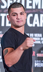 LOS ANGELES, California/USA (Friday, Aug 23 2013) - Pro boxer Bryan Vera (46-1-1, 32 KOs) poses for the media during the press conference at the Millenium Biltmore Hotel to announce the Chavez jr vs Vera fight next September 28 at the StubHub Center in Carson, CA. Los Angeles,CA USA. 29th August 2013. Fees must be agreed for image use. Byline, credit, TV usage, web usage or linkback must read: © SILVEXPHOTO.COM.