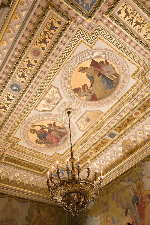 Slug: Society of the Cinncinnati<br /> Date: 08-2007<br /> Photographer: Mark Finkenstaedt <br /> Location:   2118 Massachusetts Avenue, NW<br /> Washington, DC  20008<br /> Caption:  The Society of the Cincinnati - Anderson House newly restored ceiling<br /> <br /> © 2007 Mark Finkenstaedt. All Rights Reserved. For the use of The Society of the Cincinnati - Anderson House for their marketing, website and brochures.