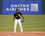 CHICAGO - APRIL 26:  Tim Anderson #7 of the Chicago White Sox fields against the Detroit Tigers on April 26, 2019 at Guaranteed Rate Field in Chicago, Illinois.  (Photo by Ron Vesely)  Subject:   Tim Anderson