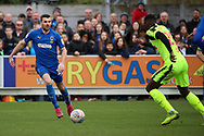 AFC Wimbledon attacker Adam Roscrow (10) battles for possession during the EFL Sky Bet League 1 match between AFC Wimbledon and Bolton Wanderers at the Cherry Red Records Stadium, Kingston, England on 7 March 2020.
