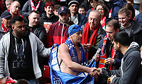 Football - 2016 / 2017 Premier League - Liverpool vs. Everton<br /> <br /> Speedo Mike collects money for charity from Liverpool fans during the match at Anfield.<br /> <br /> COLORSPORT/LYNNE CAMERON