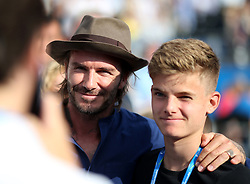 David Beckham poses for a photo during day four of the 2017 AEGON Championships at The Queen's Club, London.