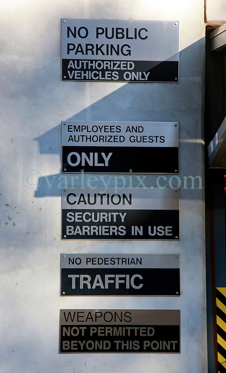 07 December 2014. Montgomery, Alabama. <br /> Signs at the lower entrance of the Southern poverty Law Center (SPLC)  <br /> Photo; Charlie Varley/varleypix.com