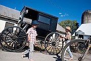 Old order Mennonite family Buggy washing and baking pies Old Order Mennonites are a branch of the Mennonite church. It is a term that is often used to refer to those groups of Mennonites who practice a lifestyle without some elements of modern technology.