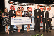Salford City, winners of NL North during the National League Gala Awards Evening at Celtic Manor Resort, Newport, South Wales on 9 June 2018. Picture by Shane Healey.