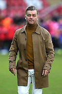 Steve King, the Whitehawk manager walks onto the pitch towards the dugout before k/o. The Emirates FA Cup, 2nd round match, Dagenham & Redbridge v Whitehawk FC at the The London Borough of Barking & Dagenham Stadium in London on Sunday 6th December 2015.<br /> pic by John Patrick Fletcher, Andrew Orchard sports photography.