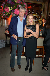 The MARQUESS OF WORCESTER and GEORGIA POWELL at the Tatler Magazine's Kings & Queens party held at Savini at Criterion, Piccadilly, London on 1st June 2016.