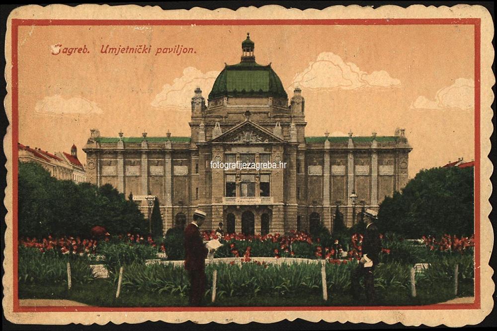 Zagreb Umjetnički paviljon.  <br /> <br /> ImpresumZagreb : M. J., [poslije 1918].<br /> Materijalni opis1 razglednica : tisak ; 13,7 x 9 cm.<br /> Vrstavizualna građa • razglednice<br /> ZbirkaGrafička zbirka NSK • Zbirka razglednica<br /> Formatimage/jpeg<br /> PredmetZagreb –– Trg kralja Tomislava<br /> SignaturaRZG-TOM-77<br /> Obuhvat(vremenski)20. stoljeće<br /> NapomenaRazglednica putovala 1919.<br /> PravaJavno dobro<br /> Identifikatori001001060<br /> NBN.HRNBN: urn:nbn:hr:238:397044 <br /> <br /> Izvor: Digitalne zbirke Nacionalne i sveučilišne knjižnice u Zagrebu