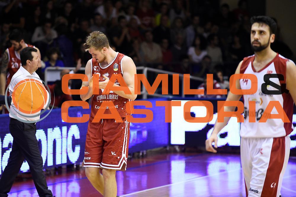 Mika Eric<br /> Grissin Bon Pallacanestro Reggio Emilia - VL Pesaro<br /> Lega Basket Serie A 2017/2018<br /> Reggio Emilia, 08/10/2017<br /> Foto A.Giberti / Ciamillo - Castoria