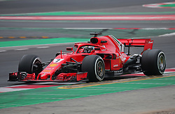 February 26, 2018 - Barcelona, Catalonia, Spain - the Ferrari of Kimi Raikkonen during the tests at the Barcelona-Catalunya Circuit, on 26th February 2018 in Barcelona, Spain. (Credit Image: © Joan Valls/NurPhoto via ZUMA Press)