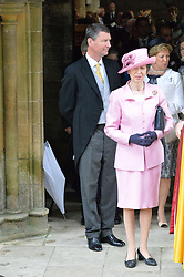 SIR TIM LAWRENCE and The Princess Royal at the wedding of the Hon.Alexandra Knatchbull to Thomas Hooper held at Romsey Abbey, Romsey, Hampshire on 25th June 2016