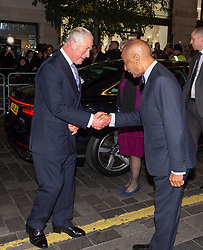 Embargoed to 0001 Tuesday November 13 The Prince of Wales meeting Kenneth Olisa Lord-Lieutenant of Greater London at the We Are Most Amused and Amazed performance at the London Palladium.