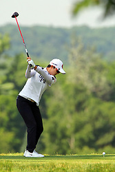 June 17, 2018 - Belmont, Michigan, United States - Hyo Joo Kim of Republic of Korea hits from the 3rd tee during the final round of the Meijer LPGA Classic golf tournament at Blythefield Country Club in Belmont, MI, USA  Sunday, June 17, 2018. (Credit Image: © Amy Lemus/NurPhoto via ZUMA Press)