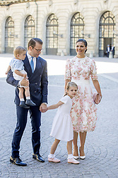 Crown Princess Victoria's birthday 40 at the Royal palace in Stockholm Attendance at Victoria Day The King Carl Gustav , The Queen Sofia , The Crown Princess Victoria, Prince Daniel princess Estelle and prince oscar , Prince Carl Philip, Princess Sofia and prince Alexander , Princess Madeleine, Christopher O'Neill and princess Leonore and prince Nicolas arrive at the Te Deum Thanksgiving service in the Royal Chapel, at the Royal Palace in Stochklom, Sweden on July 14, 2017. Photo by Robin Utrecht/ABACAPRESS.COM