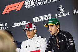 "November 8, 2018 - SãO Paulo, Brazil - SÃO PAULO, SP - 08.11.2018: GRANDE PRÊMIO DO BRASIL DE FÃ""RMULA 1 2018 - Team Brudon HARTLEY, NZL, Team Scuderia Toro Rosso, Kevin MAGNUSSEN, DEN, Haas F1 Team, Lance STROLL, CAN, Team Williams Martini Racing, Marcus ERICSSON, SWE, ALFA ROMEO Sauber F1 Team, Stoffel VANDOORNE, BEL, Team McLaren-Renault, during the 2018 Formula 1 Brazilian Grand Prix held at the Autodromo de Interlagos in São Paulo, SP. (Credit Image: © Victor EleutéRio/Fotoarena via ZUMA Press)"