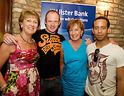 """19/7/2011.Caitriona Hartmann, Robert Hands,Propeller, Martini Molloy Kinston with Kelsey Brookfield,Propeller in McSwiggans for the pre show reception of Propeller's """"Comedy of Errors"""" by Shakspeare in the Galway Arts Festival, sponsored by Ulster Bank. Photo:Andrew Downes"""