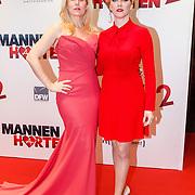 NLD/Amsterdam/20151214 - Film premiere Mannenharten 2,  Hadewych Minis en Jelka van Houten