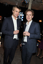 Left to right, AIDAN CRAWLEY and TOM INSKIP at a party to celebrate the launch of the new Vertu Constellation phone - the luxury phonemakers first touchscreen handset, held at the Farmiloe Building, St.John Street, Clarkenwell, London on 24th November 2011.