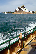 View of Sydney Opera House from Sydney Harbour Ferry. Sydney, Australia