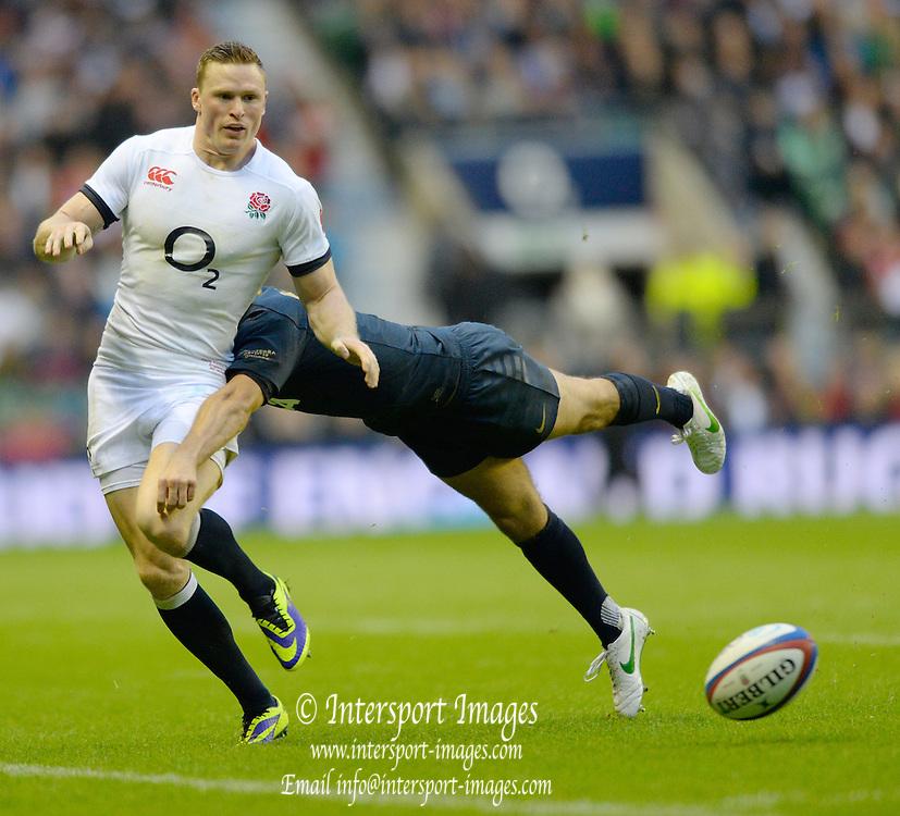 Twickenham, United Kingdom,  Chris ASHTON, during the  2013 QBE Autumn, Rugby International, England vs Argentina, RFU Stadium Twickenham, on Saturday  09/11/2013 <br /> England. [Mandatory Credit: Peter Spurrier/Intersport<br /> Images]