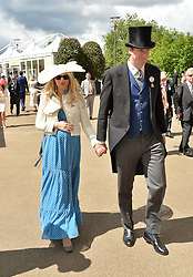 Left to right, LORD FELLOWES and his son & daughter in law the HON.ALEXANDER & ALEXANDRA FELLOWES at day two of the Royal Ascot 2016 Racing Festival at Ascot Racecourse, Berkshire on 15th June 2016.
