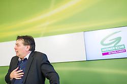 04.03.2015, Grüner Klub, Wien, AUT, Gruene, Pressekonferenz zum Thema: Hypo - nach der fortgesetzten Milliardenlüge - wie geht's jetzt weiter? im Bild Stv. Klubobmann und Budgetsprecher der Gruenen Werner Kogler // Assistant-leader and budgetary speaksman of the greens Werner Kogler during press conference of the greens about Hypo Alpe Adria bank at press office in Vienna, Austria on 2015/03/04. EXPA Pictures © 2015, PhotoCredit: EXPA/ Michael Gruber