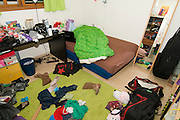 Messy Teenager's bedroom - Room as is. No changes or manipulations were made before taking this shot
