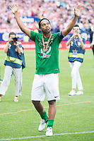 World Legend's Ronaldinho during friendly match to farewell  to Vicente Calderon Stadium in Madrid, May 28, 2017. Spain.<br /> (ALTERPHOTOS/BorjaB.Hojas)