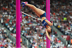 London, 2017 August 06. Robeilys Peinado, Venezuela in the in the women's pole-vault final on day three of the IAAF London 2017 world Championships at the London Stadium. © Paul Davey.